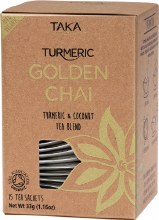 Golden Chai Tea Sachets Turmeric & Coconut Tea Blend 15