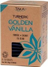 Golden Vanilla Tea Sachets Turmeric & Coconut Tea Blend 15