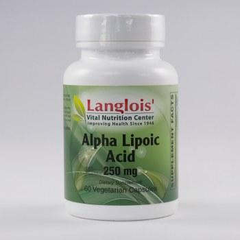 Alpha Lipoic Acid 250mg 60 Capsules