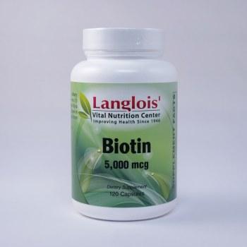 Biotin 5,000mcg 120 Capsules