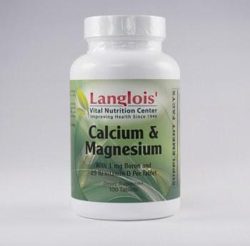 Calcium and Magnesium 100 Tablets