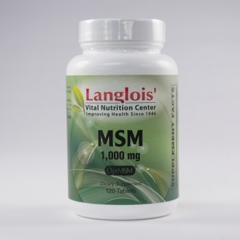 MSM 1000mg 120 Tablets