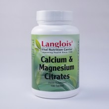 Calcium and Magnesium Citrate 100 Tablets