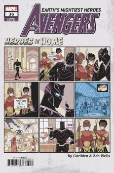 Avengers Vol 7 #36 Cover C Variant Gurihiru Heroes At Home Cover