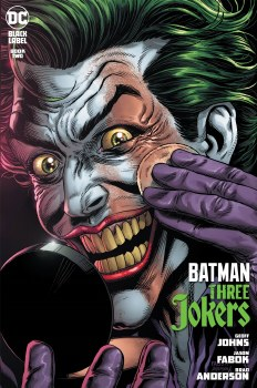 Batman Three Jokers #2 Premium Variant F Jason Fabok Applying Makeup Cover