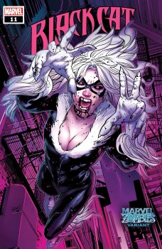 Black Cat (2019) #11 Cover B Greg Land Marvel Zombies Variant Cover