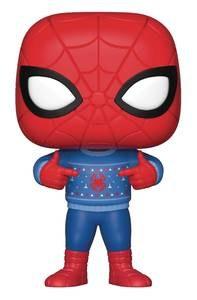 Pop Marvel Spider-Man W/ UglySweater Vinyl Fig Sweater Vinyl Fig
