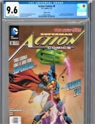 Action Comics Vol 2 #9 Cover B Rags Morales Variant CGC 9.6