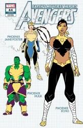 Avengers Vol 7 #44 Cover D 1:10 Ratio Incentive Javier Garron Design Variant Cover