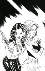 Buffy The Vampire Slayer Faith One Shot Cover E 1 Per Shop Incentive Thank You Variant Cover