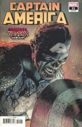 Captain America V.9 #21 Cover B Patrick Zircher Marvel Zombies Variant Cover