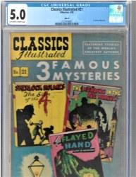 Classics Illustrated #21 (04/1950) CGC 5.0