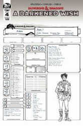 Dungeons & Dragons A Darkened Wish #4 (of 5) Cover B Variant Character Sheet Cover