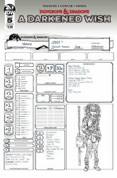 Dungeons & Dragons A Darkened Wish #5 (of 5) Cover B Variant Character Sheet Cover