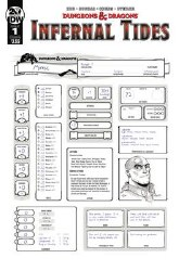 Dungeons & Dragons Infernal Tides #1 Cover B Variant Character Sheet Cover
