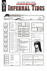 Dungeons & Dragons Infernal Tides #2 (of 5) Cover B Variant Character Sheet Cover