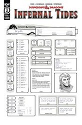 Dungeons & Dragons Infernal Tides #3 (of 5) Cover B Variant Character Sheet Cover
