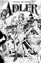 Adler #1 Cover D Variant Butch Guice Black & White Cover