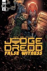 Judge Dredd False Witness #1 Cover B Incentive Jonboy Meyers Variant Cover