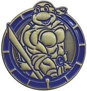 Teenage Mutant Ninja Turtles Leonardo Antique Gold Numbered Pin