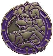 Teenage Mutant Ninja Turtles Donatello Antique Gold Numbered Pin