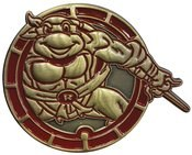 Teenage Mutant Ninja Turtles Raphael Antique Gold Numbered Pin