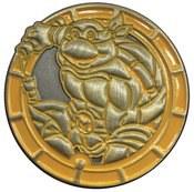 Teenage Mutant Ninja Turtles Michelangelo Antique Gold Numbered Pin