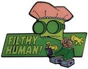 Invader Zim Filthy Human Pin