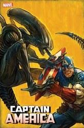 Captain America Vol 9 #27 Cover B Variant Ivan Shavrin Marvel vs Alien Cover