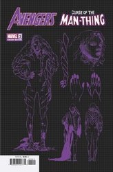 Avengers Curse Of The Man-Thing One Shot Cover E 1:10 Ratio Incentive Carmen Carnero Design Variant Cover