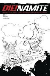 DieNamite #4 Cover J 1:7 Ratio Incentive Jacob Edgar Peanuts Homage Line Art Cover