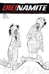 DieNamite #4 Cover K 1:7 Ratio Incentive Jacob Edgar Dr Seuss Homage Line Art Cover