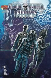 Blood Skulls And Chrome #1 Cover B 1:5 Ratio Incentive Kyle Hotz Variant Cover