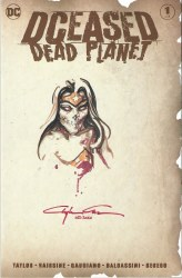 DCEased Dead Planet #1 Clayton Crain Sketch Cover with Thumbprint COA