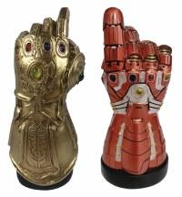 SDCC 2020 Marvel Avengers Endgame Infinity Gauntlet/Iron Man Gauntlet 2 Pack Desktop Monument with LED Infinity Stones