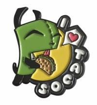Invader Zim I Love Tacos Pin