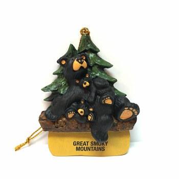 Bearfoots Bears Great Smoky Mountains Lounge Bears Ornament