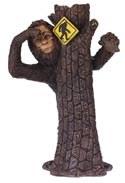 Bigfoot Hides Behind Tree