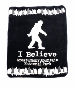 Bigfoot Great Smoky Mountains Blanket