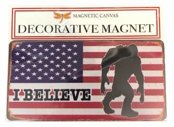 'I Believe' Bigfoot American Flag Magnet