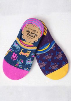 Natural Life No Show Cats Socks