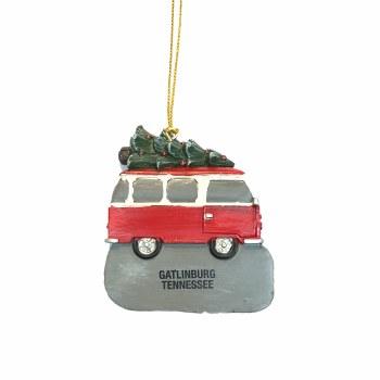 Old School Van w/ Christmas Tree Ornament Gatlinburg
