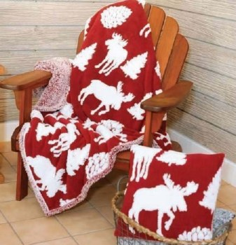 Moose Melange Sherpa Ultra Plush SherpaThrow