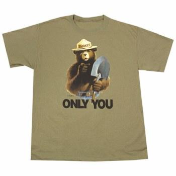 Smoky Bear with Shovel - Khaki
