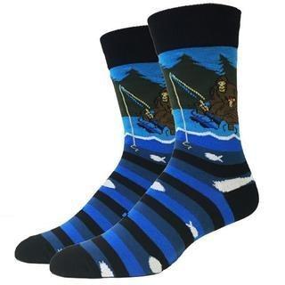 Fishing Bigfoot Socks