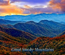 Great Smoky Mountain Fleece Throw