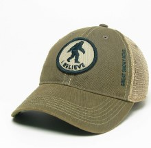 Black Old Favorite Trucker Hat I Believe 'Squatch - GSM