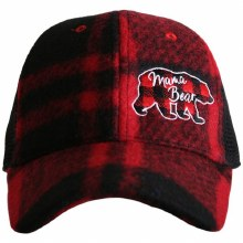 Mama Bear Red Plaid Trucker Cap