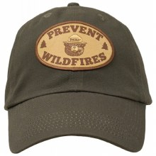 Smokey the Bear Hat with Prevent Wildfires Patch - Olive