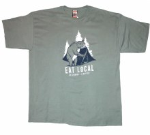 Men's Duck Co 'Eat Local' Short Sleeve T-Shirt